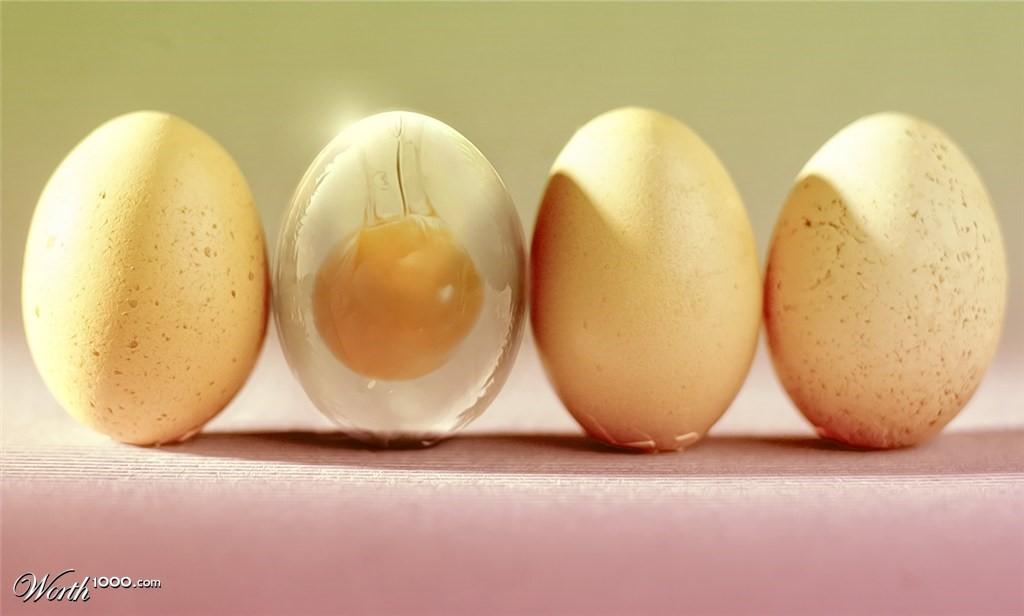 создание полупрозрачного яйца в фотошопе