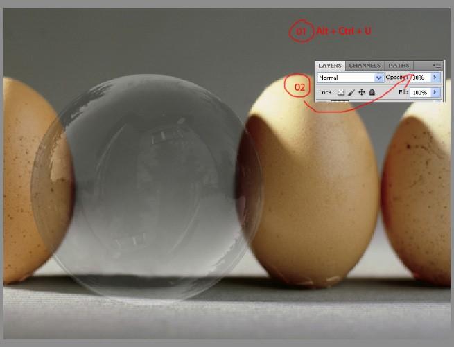 Обесцвечиваем мыльный пузырь фотошоп