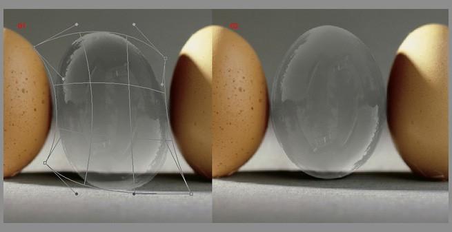 Придаем форму мыльному пузырю фотошоп