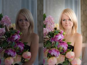 Фотоколлаж девушка с цветами фотошоп