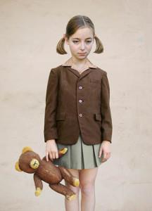 Лоретта Люкс детский фотоколлаж девочка медведь