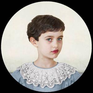 Лоретта Люкс детский фотоколлаж портрет девочки
