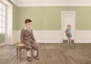 Лоретта Люкс детский фотоколлаж дети в комнате