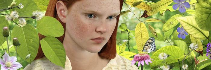 Рууд Ван Эмпл фотоколлаж хмурая девушка