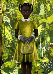 Рууд Ван Эмпл фотоколлаж девочка в золоте