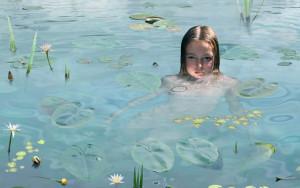 Рууд Ван Эмпл фотоколлаж девочка в воде
