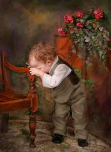 Ричард Рэмси фотоколлаж грустный мальчик