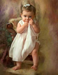 Ричард Рэмси фотоколлаж девочка в платье