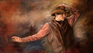 Ричард Рэмси фотоколлаж мальчик ковбой