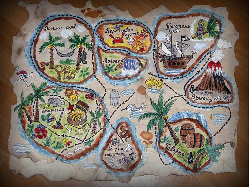 Детский фотоколлаж карта приключений