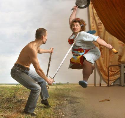 Фотоколлаж Юлия Напольская муж и жена