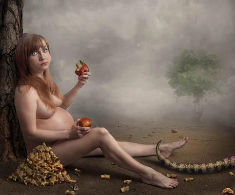 Фотоколлаж Юлия Напольская беременная