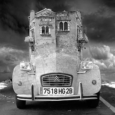 Фотоколлаж Томаса Барбе автомобиль
