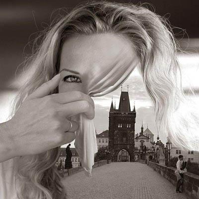 Фотоколлаж Томаса Барбе город