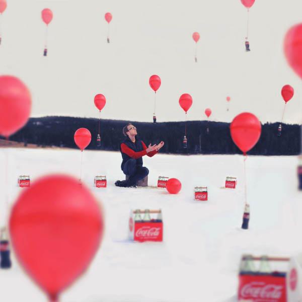 Фэнтези фотографии шары кока-кола