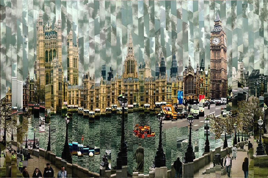Фотоколлажи городов Лондон