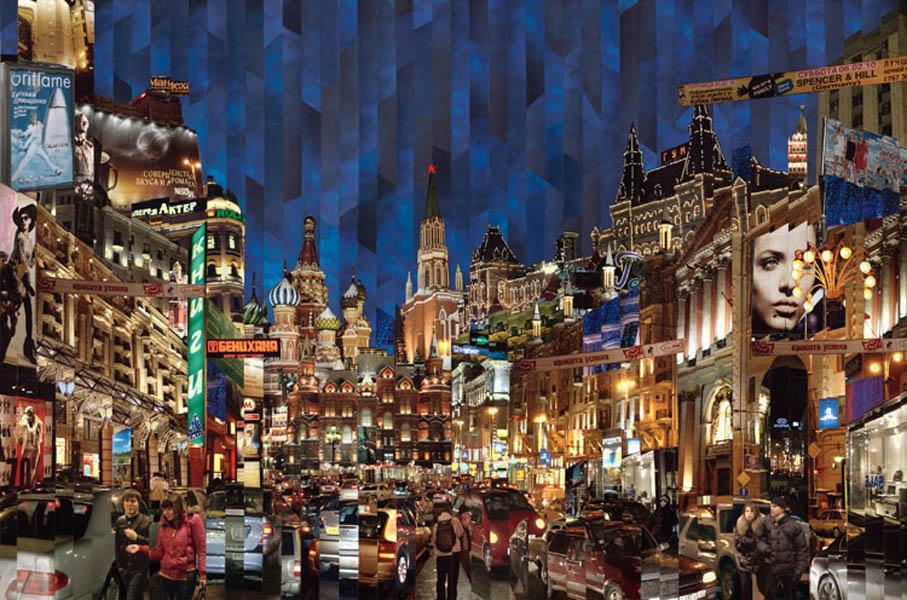 Фотоколлажи городов Москва