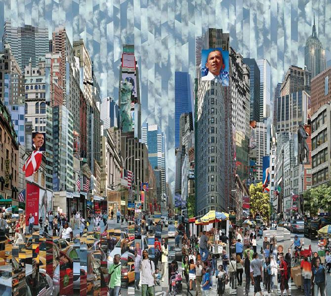 Фотоколлажи городов Нью-Йорк