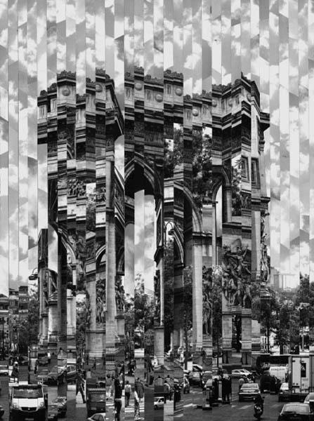 Фотоколлажи городов Париж Серж Менджинский