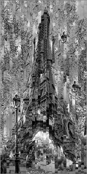Фотоколлажи городов Париж фотохудожник