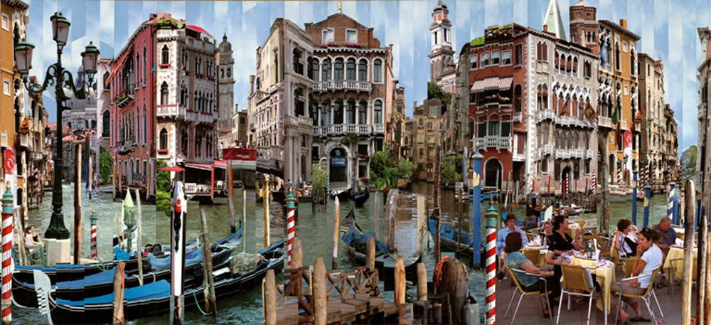 Фотоколлажи городов Венеция Серж Менджийский