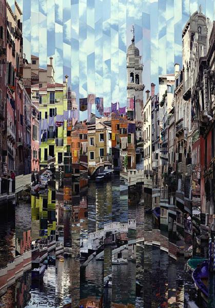 Фотоколлажи городов Венеция фотохудожник Серж Менджийский