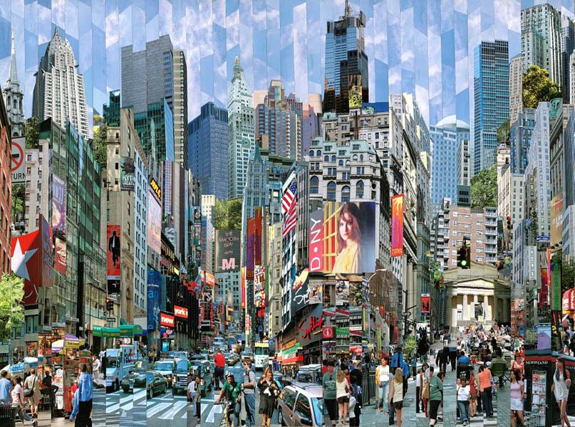 Фотоколлажи городов Нью-Йорк фотохудожник Серж Менджийский