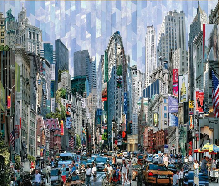 Фотоколлажи городов Нью-Йорк Америка Серж Менджийский