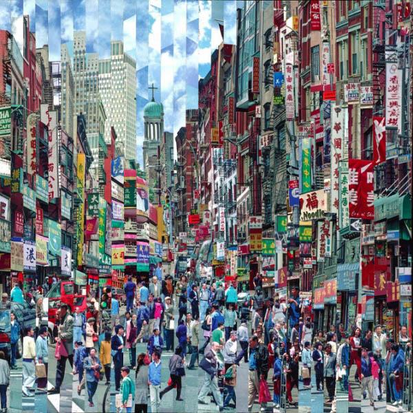 Фотоколлажи городов Китай Серж Менджийский