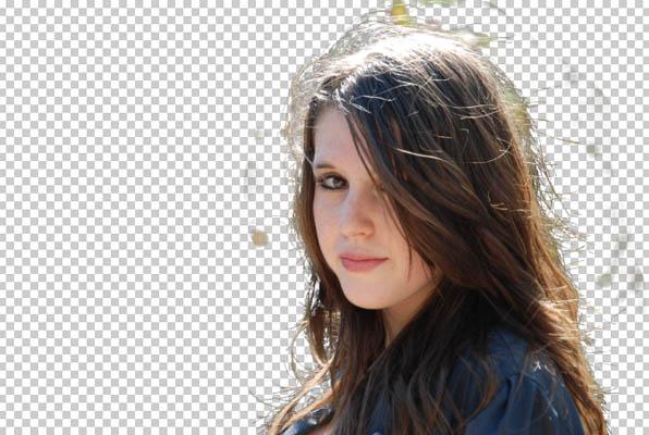 Вырезаем волосы ластик photoshop