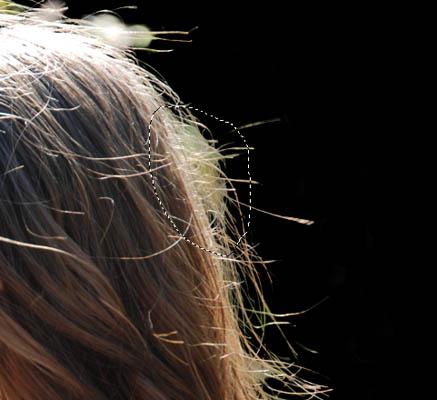 Вырезаем волосы убираем ластиком photoshop