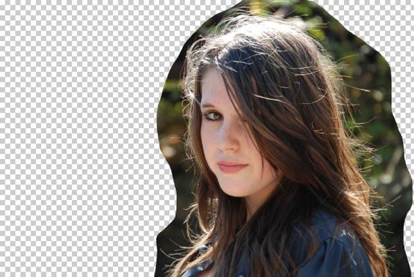 Вырезаем волосы убираем лишнее photoshop
